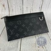 BRAND楓月 LOUIS VUITTON LV M44323 DISCOVERY 黑色 原花 手拿包 錢包 隨身包