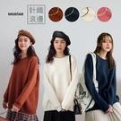 現貨-MIUSTAR 滾邊造型配色厚磅針織毛衣(共4色)【NH3168】預購