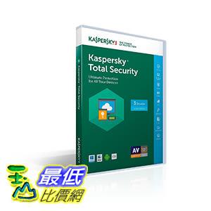 [106美國直購] 2017美國暢銷軟體 Kaspersky Total Security 2017 | 3 Device/1 Year (Key Card)