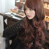 假髮(長髮)-時尚捲髮氣質斜瀏海女配件3色73fi41[時尚巴黎]