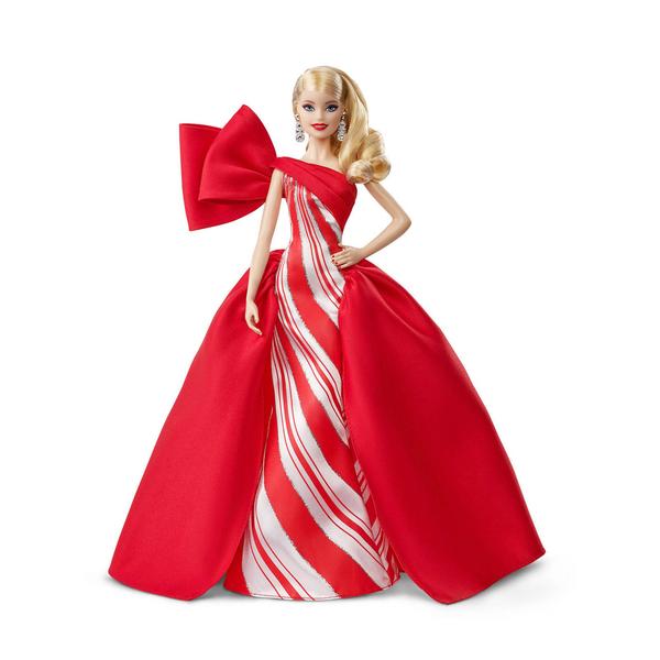 《 MATTEL 》芭比收藏系列 - 假日芭比 金色捲髮 / JOYBUS玩具百貨