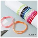 Catworld 糖果色止滑運動髮帶(雙條)【18003504】‧F