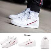 adidas 休閒鞋 Continental 80 白 紅 皮革 基本款 經典復刻 男鞋 女鞋【PUMP306】 B41674