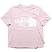 THE NORTH FACE 粉 粉白LOGO T恤 短T 短袖 女 (布魯克林) NF0A46GFBEJ