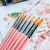 水粉筆水彩畫筆 套裝初學者手繪插畫筆學生用顏料筆水粉畫筆大中小成人美術 CR水晶鞋坊YXS