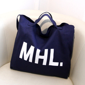 DE shop - 復古字母MHL帆布袋牛仔布購物袋手提袋後背包 - PP - 330