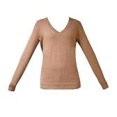 【南紡購物中心】Tommy Hilfiger 經典刺繡標誌V領長袖針織毛衣-棕
