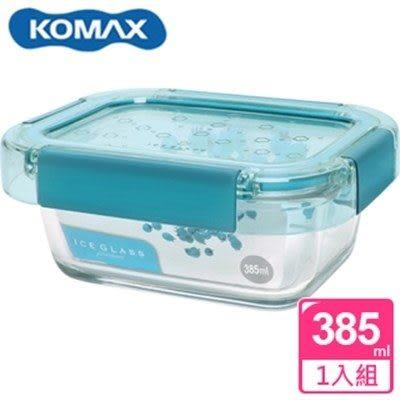 新一代 KOMAX 冰鑽長形強化玻璃保鮮盒 綠 385ml(60048)【AE02273】