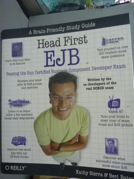 【書寶二手書T7/網路_QDJ】Head first EJB_Sierra, Bates