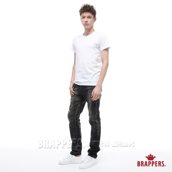 BRAPPERS 男款 HM-中腰系列-彈性直筒褲-黑灰