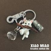 小貓鑰匙扣女 貓咪公仔韓國可愛創意汽車鑰匙鍊包包掛飾書包掛件