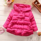 冬裝女童加厚棉襖外套冬季