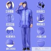 加厚分體雨衣外賣男防水雨褲電動車雨披摩托防暴雨服套裝女  夏季新品