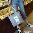 帆布包布袋女文藝韓版學生大容量簡約森系chic麻繩手提單肩包女包 果果輕時尚