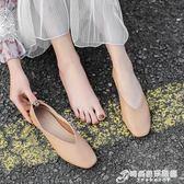 平底單鞋 單鞋女春款平底百搭淺口瑪麗珍復古奶奶鞋一腳蹬鞋子豆豆鞋女 時尚芭莎