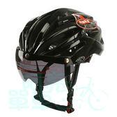 *阿亮單車*GVR 專業自行車安全帽 阿波羅原色系列(G307V),附鏡片,黑色《C77-313-B》