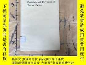 二手書博民逛書店Causation罕見and Prevention of Hum