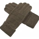 羊毛針織觸控手套-經典毛絨防寒保暖男手套72q17【巴黎精品】