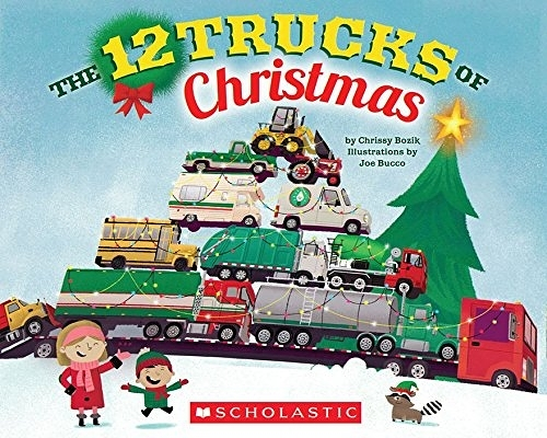 【麥克書店】THE 12 TRUCKS OF CHRISTMAS /英文繪本《幽默. 聖誕節》
