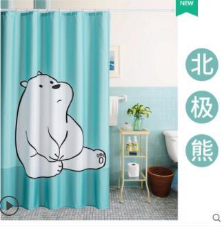 浴室衛生間浴簾加厚簾子掛簾淋浴防水布隔水簾洗澡間窗簾隔斷拉簾 NMS名購新品