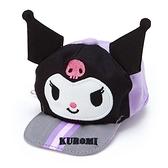 〔小禮堂〕酷洛米 棒球帽造型帆布化妝包《紫黑》掛飾.收納包.東京奧運系列 4901610-81478