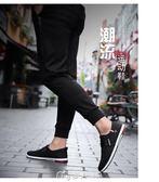 帆布鞋春季新款男鞋子男士帆布鞋韓版潮流休閒板鞋男透氣百搭布鞋   麥吉良品
