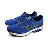 美津濃 Mizuno WAVE RIDER 21 運動鞋 慢跑鞋 網布 透氣 避震 藍色 男鞋 J1GC180310 no038