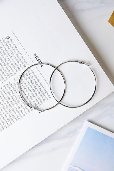 Qmigirl 歐美時尚個性氣質誇張幾何大圈圈超細圓圈耳環【QG2211】