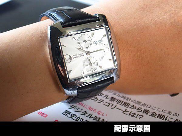 完全計時手錶館│OPAL破盤特賣‧自動機械錶(方酒桶/波紋錶面/上日期下小秒) OP4988白面