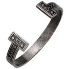 《QBOX 》FASHION 飾品【BRG-035】 精緻個性復古維京符文開口鑄造鈦鋼手鐲/手環