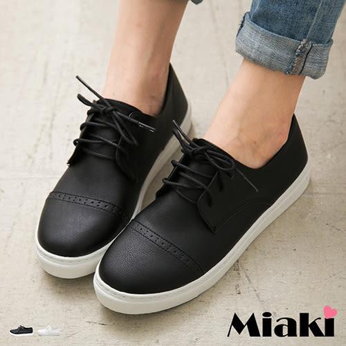 休閒鞋日系簡約百搭綁帶厚底包鞋 (MIT)