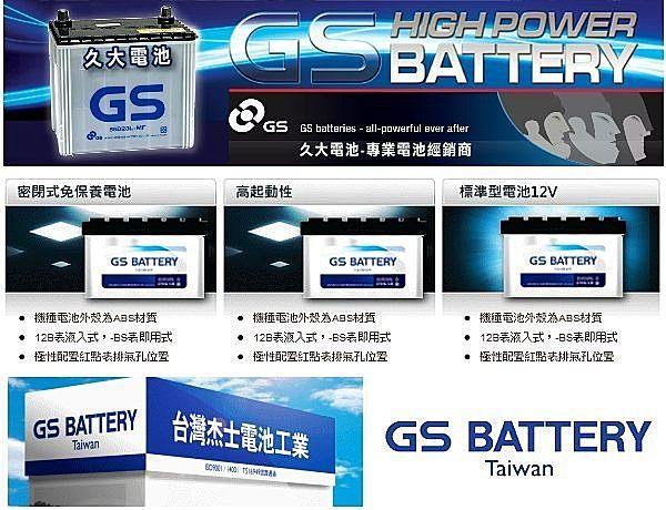 ✚久大電池❚ GS 統力 汽車電瓶 加水式 55D23L 汽車電池