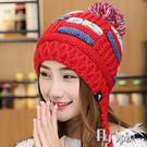 毛線帽-超保暖拼色防風禦寒柔軟刷毛短絨俏皮針織冬帽16AW-N009 FLY SPIN