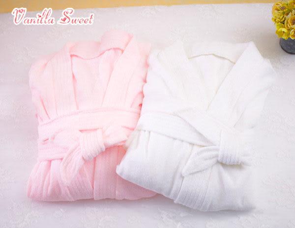 雙面超細纖維速乾毛巾布浴袍睡袍 女生版 - 香草甜心