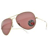 RayBan 偏光太陽眼鏡 RB3025 9196AF 62mm (金-偏光紫鏡片) 經典 飛官款 飛行款 偏光墨鏡 # 金橘眼鏡