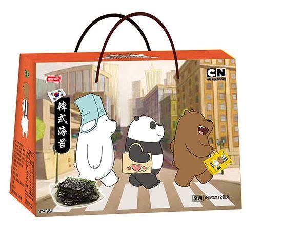 元本山卡通韓式海苔禮盒54g/盒【合迷雅好物超級商城】