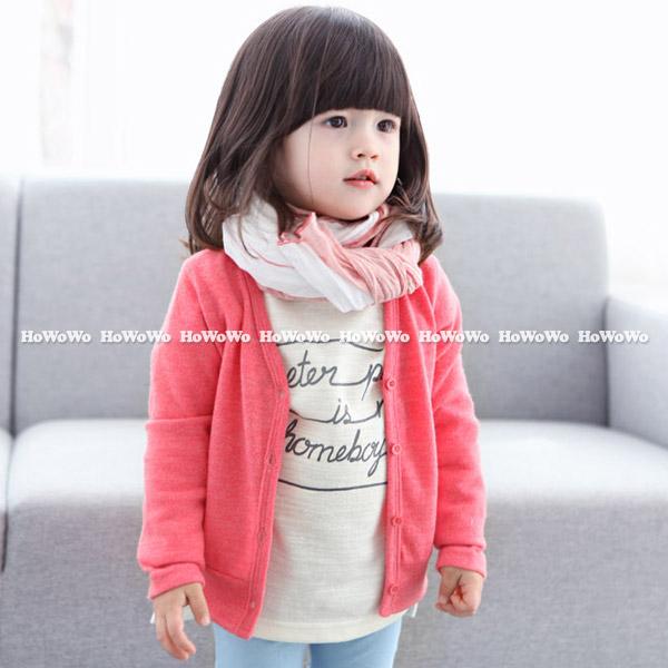 兒童薄外套 糖果色V領寶寶針織衫 CA10105 好娃娃
