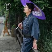 日本傳統男士和服浴衣 花火大會夏日祭 日系和風家居服全棉透氣【小酒窩服飾】
