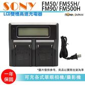 樂華攝彩LCD 雙槽高速充 SONY FM 系列FM50 55H 90 500H 液晶螢幕電量顯示可調高低速雙充