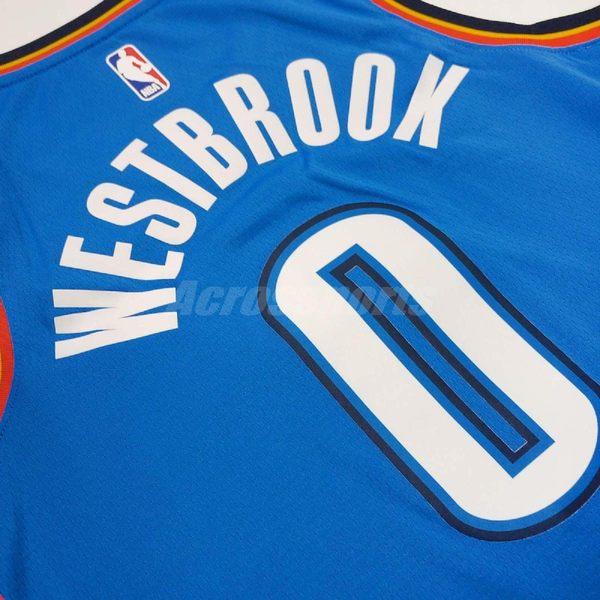 Nike 球衣 NBA Swingman Jersey 奧克拉荷馬州 雷霆隊 Russell Westbrook 西河 0 藍 客場 【PUMP306】 864497-403