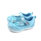 冰雪奇緣 Elsa Anna 休閒鞋 娃娃鞋 魔鬼氈 水藍色 中童 童鞋 FNKP04836 no734