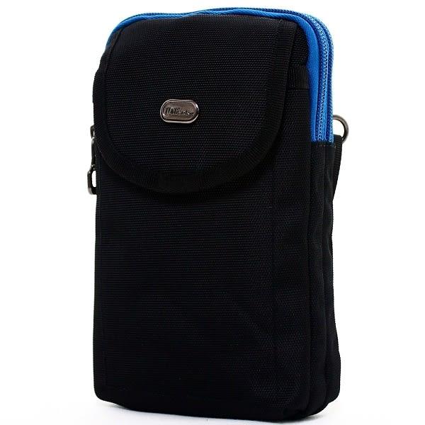 腰包 輕便尼龍撞色雙層掛包側背包包手機袋 NEW STAR BW32