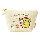 Sanrio 布丁狗刺繡鑲飾絨布化妝包(幸運禮物)★funbox★_164861N