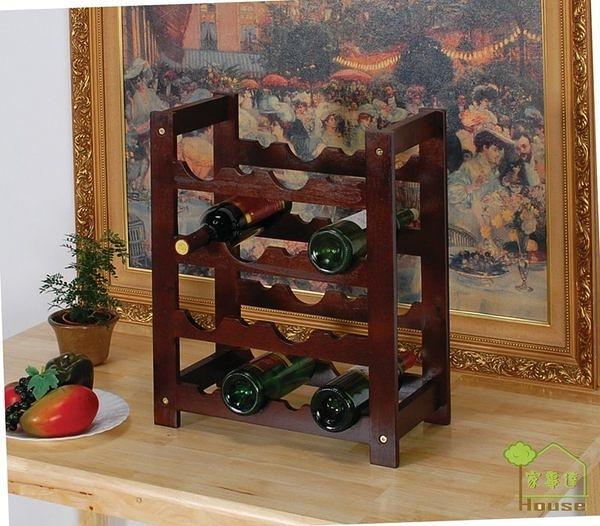 [ 家事達] TMT 佛朗哥實木酒瓶架 (TAR-112)