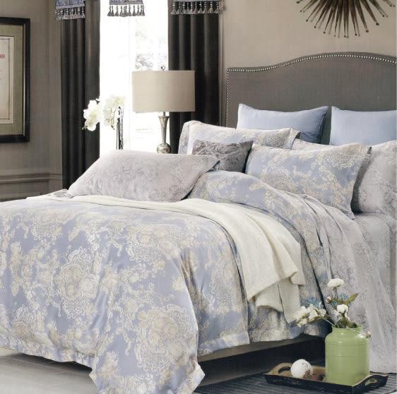 【名流寢飾家居館】語曦.100%天絲.超細緻.特大雙人鋪棉床包組兩用鋪棉被套全套