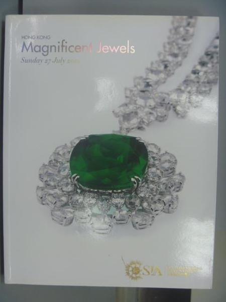 【書寶二手書T5/收藏_PNQ】SIA太陽國際拍賣行_Magnificent Jewels_2014/7/27