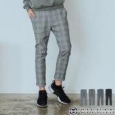 【OBIYUAN】格子褲 休閒褲 英倫風 格紋長褲 彈性 九分褲共4色【X6916】