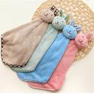 可愛動物兔子掛式珊瑚絨吸水擦手巾 擦手布(共3色)