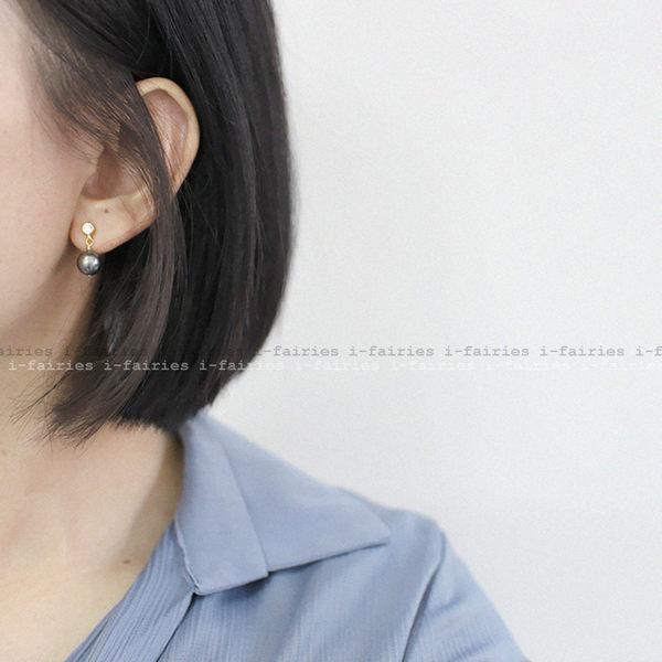 5天出貨★珍珠鋯石耳環★ifairies【62925】