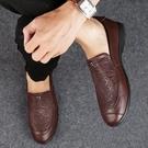 FINDSENSE品牌 四季款 新款 日本 男 高品質 真皮 簡約 暗紋路 純色